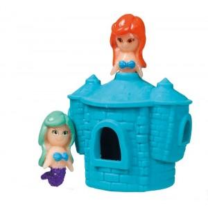 Rozciągliwy zamek z syrenkami - Niebieski (Z2396)