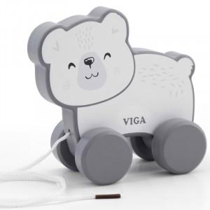 Viga - Polar B - drewniany miś polarny do ciągnięcia (Z2415)