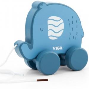 Viga - Polar B - drewniany słonik do ciągnięcia (Z2417)
