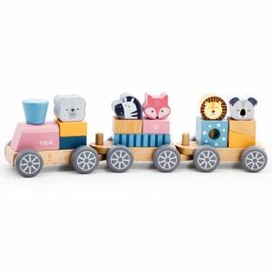 Viga - Polar B - drewniany pociąg z wagonikami i zwierzątkami (Z2418)