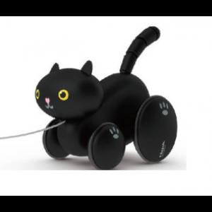 Classic World - drewniany czarny kotek do ciągnięcia (Z2426)