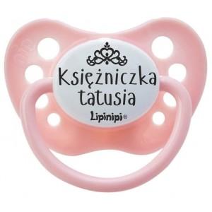 Smoczek uspokajający LIPINIPI 0-6 m-cy - KSIĘŻNICZKA TATUSIA (Z2459)