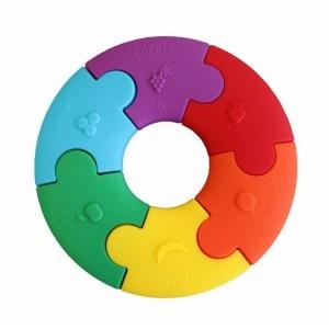 Jellystone - pierwsze puzzle sensoryczne - tęczowe (Z2468)