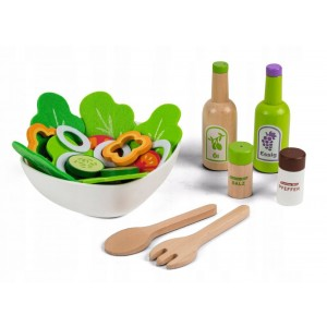 ECOTOYS - Drewniane warzywa - zestaw z miską (Z2485)
