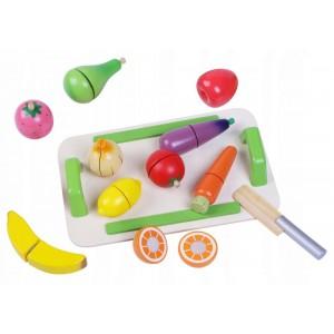 ECOTOYS - Drewniane warzywa i owoce do krojenia (Z2487)