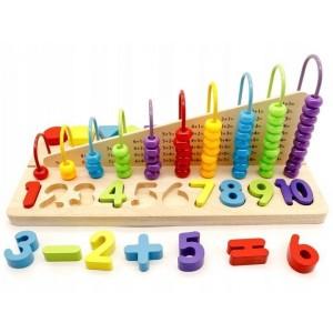 ECOTOYS - zabawka edukacyjna liczydło, klocki cyfry (Z2491)