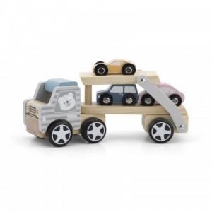 Viga - drewniana laweta z samochodami (Z2504)