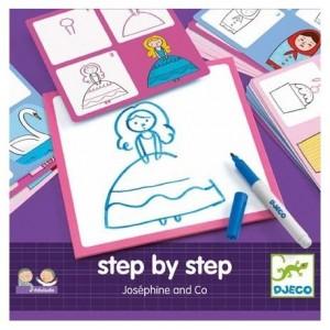 Djeco - nauka rysowania krok po kroku - Eduludo Josephine (Z2514)