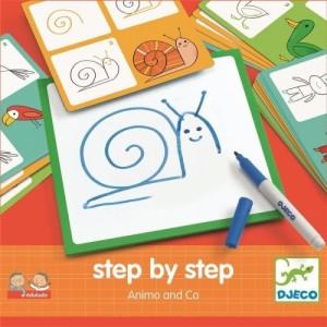 Djeco - nauka rysowania krok po kroku - Zwierzęta (Z2515)