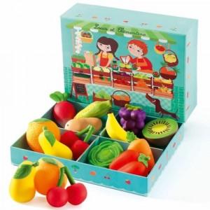 Djeco - zestaw owoców i warzyw 12szt. (Z2517)
