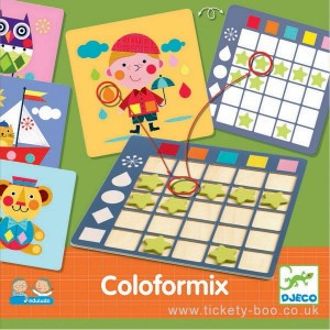 Djeco - gra edukacyjna - Kształty i kolory (Z2518)