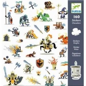 Djeco - zestaw naklejek Rycerze 160szt. (Z2520)
