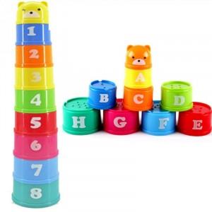 Kubeczki edukacyjne - wieża - cyfry i litery (Z2524)