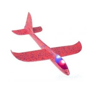 Samolot szybowiec styropianowy z ledami - różowy (Z2538)