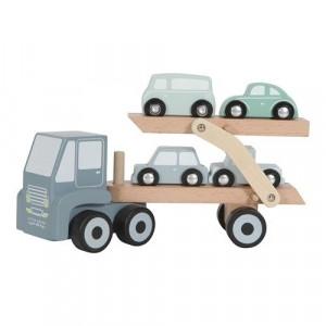 Little Dutch - laweta z podnośnikiem i 4 autkami (Z2558)