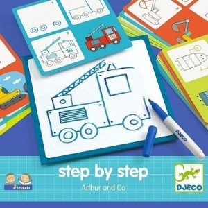 Djeco - krok po kroku - nauka rysowania z Arturem (Z2572)