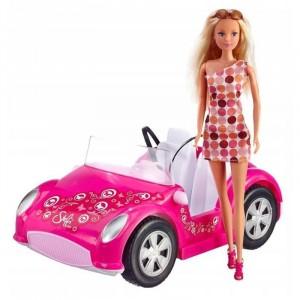 SIMBA - Lalka Stefii Love w różowym kabriolecie (Z2581)