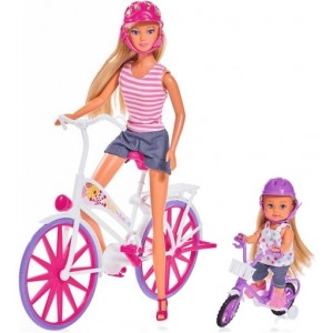 SIMBA - Lalka Stefii i Evi Przejażdżka na rowerze (Z2587)
