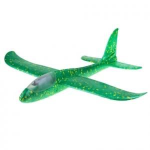 Samolot szybowiec styropianowy z ledami - zielony (Z2686)
