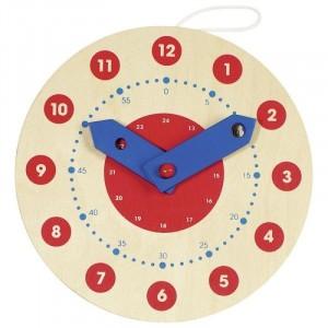 GOKI - zegar drewniany do nauki godzin (Z2756)
