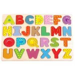 Lelin - układanka puzzle drewniane Alfabet (Z2758)
