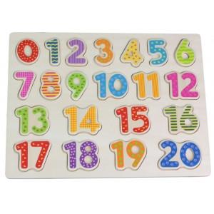 Lelin - puzzle układanka drewniana Cyfry (Z2759)