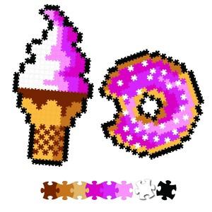 Fat Brain Toys - Jixelz Puzzelki Pixelki - Słodkości 700 elementów (Z2815)