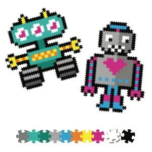 Fat Brain Toys - Jixelz Puzzelki Pixelki - Roboty 700 elementów (Z2817)