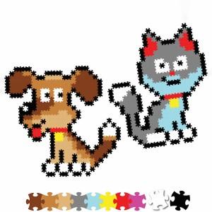 Fat Brain Toys - Jixelz Puzzelki Pixelki - Zwierzęta domowe 700 elementów (Z2818)