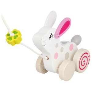 GOKI - drewniany króliczek do ciągnięcia (Z2831)