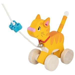 GOKI - drewniany kotek do ciągnięcia (Z2832)