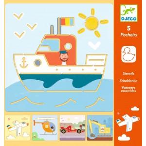 Djeco - szablony do odrysowania - Pojazdy (Z2840)