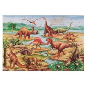 Melissa&Doug - puzzle podłogowe - Dinozaury 48 el. (Z2856)