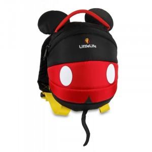 LittleLife - Plecak Disney z odpinaną smyczą 1-3 lata - Myszka Mickey (Z2967)