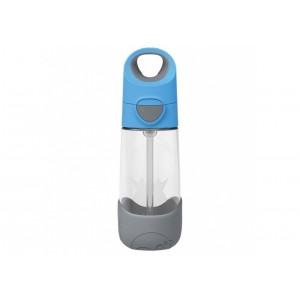 B.Box - butelka tritanowa ze słomką 450ml - Blue Slate - niebiesko-szara (Z2974)