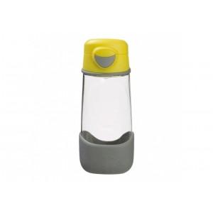 B.Box - sportowa butelka tritanowa 450ml - Lemon Sherbet - szaro-żółta (Z2975)
