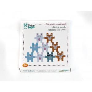 AdamToys - Układanka piramida zwierząt (Z2990)