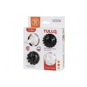 Tullo - piłki sensoryczne - 4 szt. - Czarno-białe (Z2995)