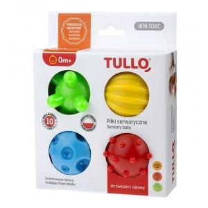 Tullo - piłki sensoryczne - 4 szt. - Kolorowe (Z2996)