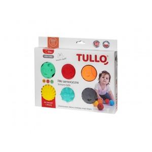 Tullo - piłki sensoryczne - 6 szt. - Wesołe buźki (Z2997)