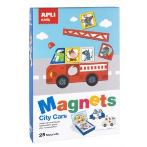 APLI Kids - magnetyczna układanka - Pojazdy (Z3001)