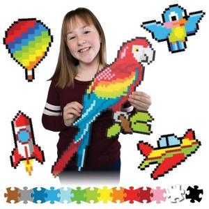 Fat Brain Toys - Jixelz Puzzelki Pixelki - W powietrzu 1500 elementów (Z3059)