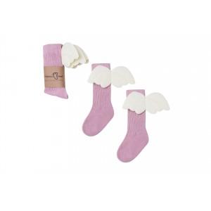 Mama's Feet - Podkolanówki Aniołki - Różowe - dla Mamy (Z3105)