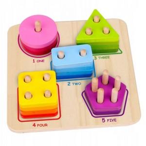 Tooky Toy - drewniany sorter geometryczny (Z3161)