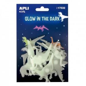 APLI Kids - naklejki fluorescencyjne - Dinozaury 9szt. (Z3182)
