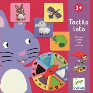 Djeco - gra edukacyjna - Tactilo Loto - Ruletka - Zwierzęta (Z3192)