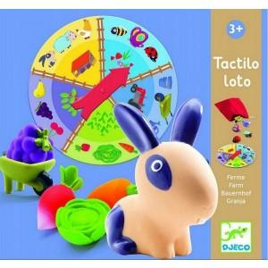 Djeco - gra edukacyjna - Tactilo Loto - Ruletka - Farma (Z3193)