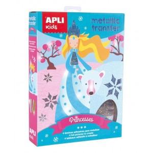 APLI Kids - zestaw artystyczny kalkomanii z folią - Księżniczki (Z3199)