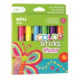 Apli Kids - Farby w kredce 6 szt. - Neonowe (Z3202)