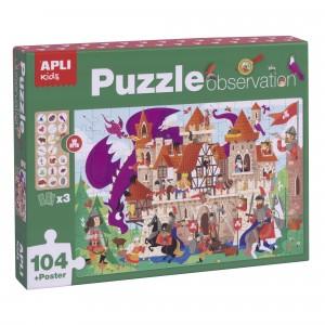 APLI Kids - Puzzle obserwacyjne - Zamek 104 el. (Z3206)